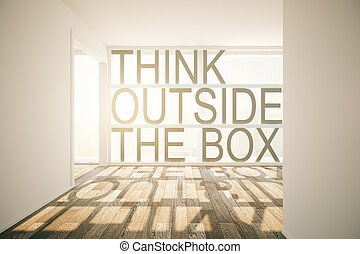 Think outside the box - Thinking outside the box concept in...