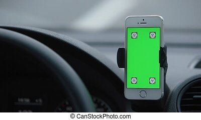 Chroma Phone Car While Driving hand gestures.