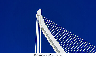 cable stayed bridge in Valencia, Spain