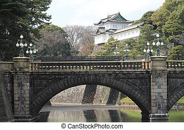 Nijubashi bridge of Edo castle in Tokyo, Japan