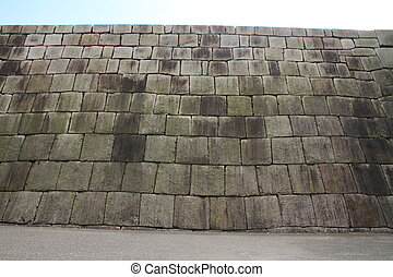 main tower of Edo castle - Stone foundation of the main...