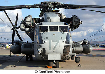 Military helicopter - US Marines helicopter