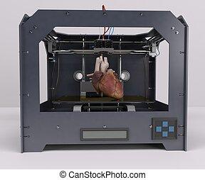 3 Dimensional  Printer - 3D Render of 3 Dimensional  Printer