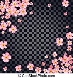 Abstract background cherry blossom