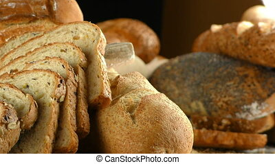 Delicious Mixed of Bread Concept