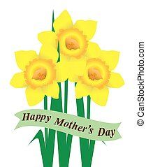 daffodil mom - daffodils mothers day card