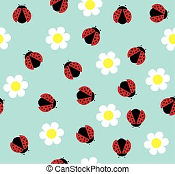 insects bugs - seamless ladybug background