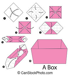origami A Box - step by step instructions how to make...