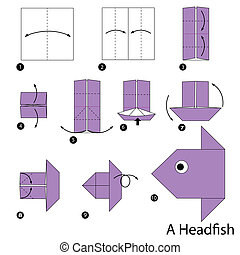 origami A Head fish - step by step instructions how to make...