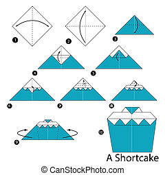 origami A Shortcake - Step by step instructions how to make...