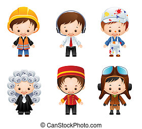 Occupation Icons - set of people occupations icons