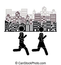 people walking design, vector illustration eps10 graphic