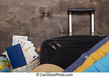 viaje, maletas, empresa / negocio, equipaje