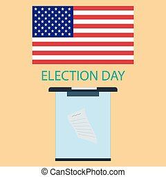 Voting day - The poster to the day of voting in America...