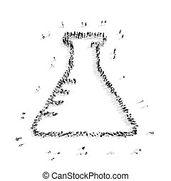 people in the shape of bulb - A group of people in the shape...