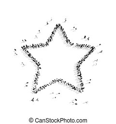 people in the shape of a star