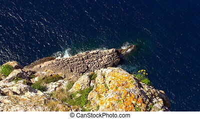 The Colorful Cliff line of Mallorca at the Mediterranean sea...
