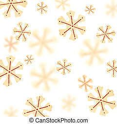 Christmas background with a pattern from snowflakes