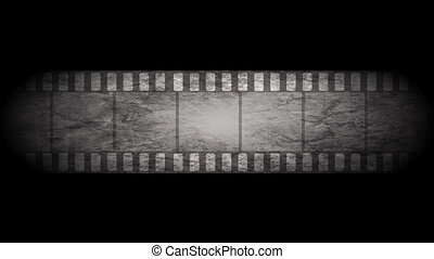 Grunge grey filmstrip video animation - Grunge grey moving...