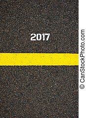 Road marking yellow line year 2017 - Road marking yellow...