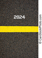 Road marking yellow line year 2024 - Road marking yellow...