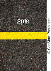 Road marking yellow line year 2018 - Road marking yellow...