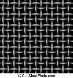 Metal Wire Mesh Grid - Silver and black metal wire mesh grid...