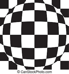 Chess checker Tiles - Abstract background illustration of 3d...