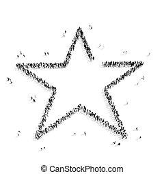 pessoas, FORMA, estrela, Grupo,