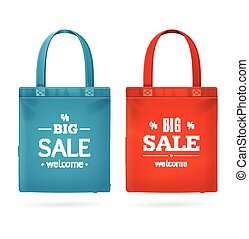 Color Sale Bag Labels Set Vector illustration