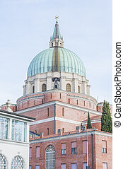 The military Memorial Church in Udine, Italy. - The...