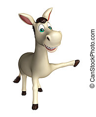 cute Donkey funny cartoon character - 3d rendered...