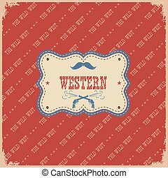 The western label background.