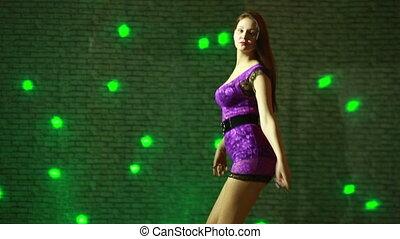 beautiful sexy girl dancing go go - beautiful girl dancing...