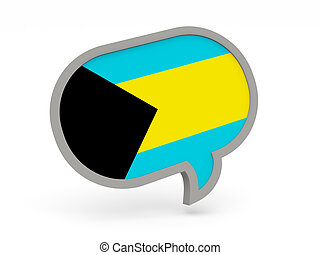 Chat icon with flag of bahamas
