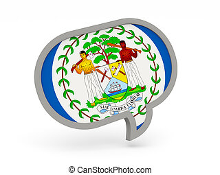 Chat icon with flag of belize