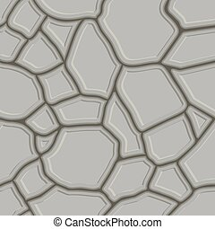 Brown stone seamless background Vector illustration game...