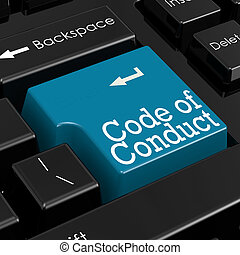 Code of conduct concept. 3D Render. - Code of conduct...