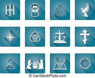 Set of Christian Icons - A set of Christian religious icons...