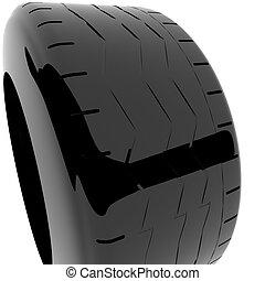 Car tire, 3d
