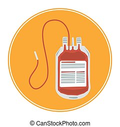 Blood transfusion icon