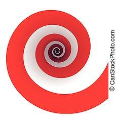 rosso, spirale,