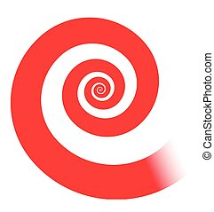 red spiral - Classic red spiral illustration, vector.