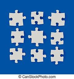 Set of puzzle pieces