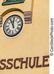 building elementary school facade, symbol of education,...