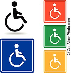 Disabled icon Vector handicap symbol - Disabled icon -...