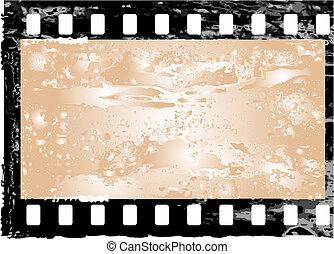 Grunge filmstrip frame - Aged vector illustration of a...