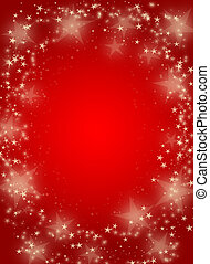 Red background with stars - Magic abstract red christmas...