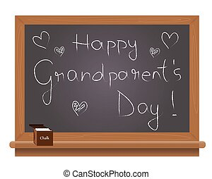 Happy grand parents day - Grand parentss day text on a...