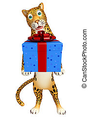 Leopard cartoon character - 3d rendered illustration of...